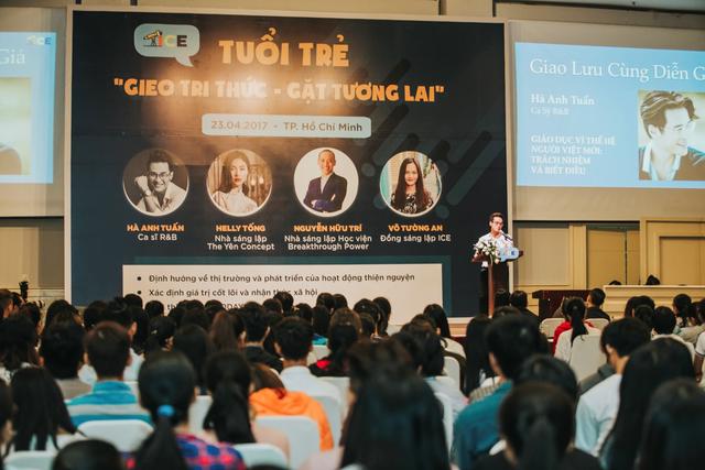 Bạn trẻ được truyền cảm hứng từ các diễn giả trong sự kiện khởi động dự án.
