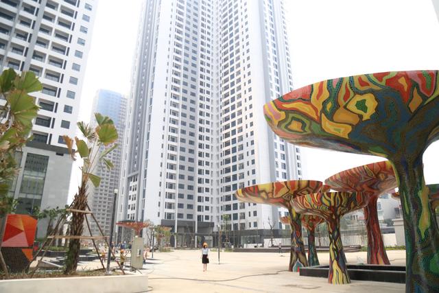 Đại dự án Goldmark City được TNR đầu tư lớn về cảnh quan và là tổ hợp căn hộ có nhiều quảng trường nhất Việt Nam.
