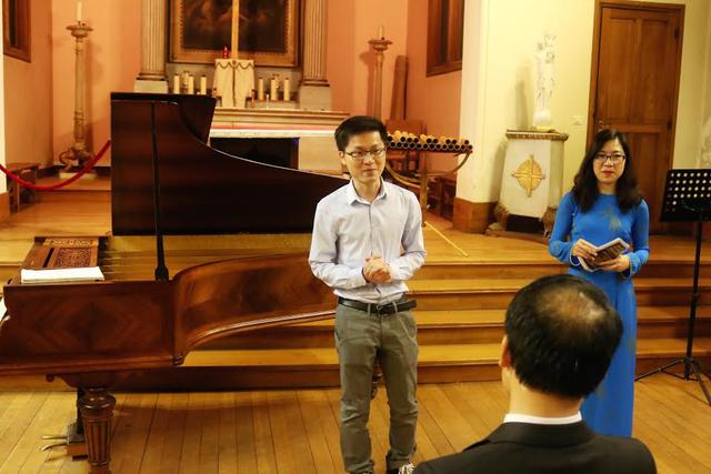 Chủ tịch Lê Hồng Thái chia sẻ về Đồng Hành và ý nghĩa của buổi hòa nhạc.
