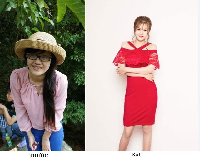 Hình ảnh Hằng trước và sau khi dùng sản phẩm do mình cung cấp