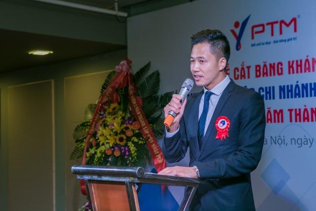 Ông Phạm Văn Thuyết – Giám đốc công ty Việt Nhật PTM phát biểu trong buổi lễ kỷ niệm 5 năm thành lập công ty