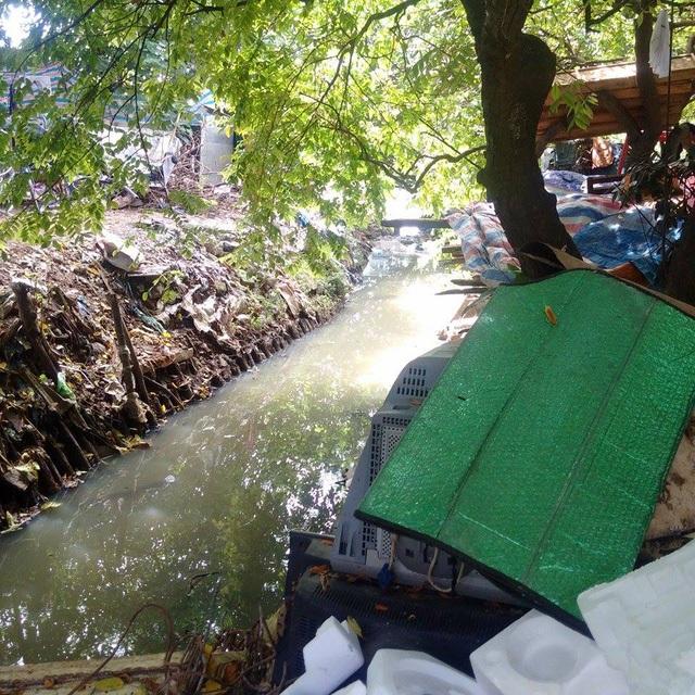 Dân ngụ cư sống hai bên bờ kênh nổi mùi hôi thối.