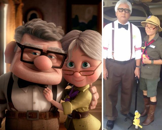 """Đáng yêu trong hình ảnh vợ chồng già của """"Up"""""""