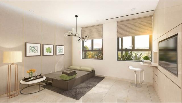 Khi nhận bàn giao căn hộ tại Saigon Intela khách hàng được tặng phòng ngủ thông minh với hệ tủ và vách di động kèm theo hệ thống điện cảm ứng thông minh.