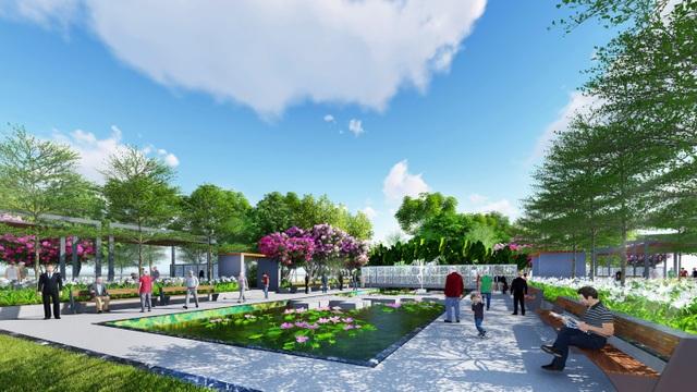 Các khu vườn chuyên đề và hồ nước thư giãn giúp mọi người hoà mình vào thiên nhiên.