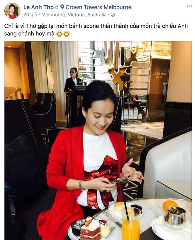 Hiện tại vợ Bình Minh đang đi công tác tại Úc.