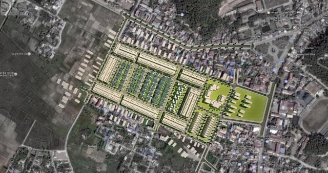 Phối cảnh dự án tại trung tâm thị trấn Núi Đèo, Thủy Nguyên