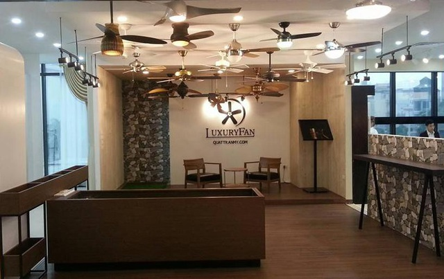 Showroom quạt trần LuxuryFan