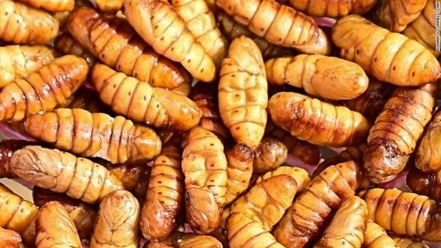 Món nhộng tằm tại Campuchia. (Nguồn: CNN)