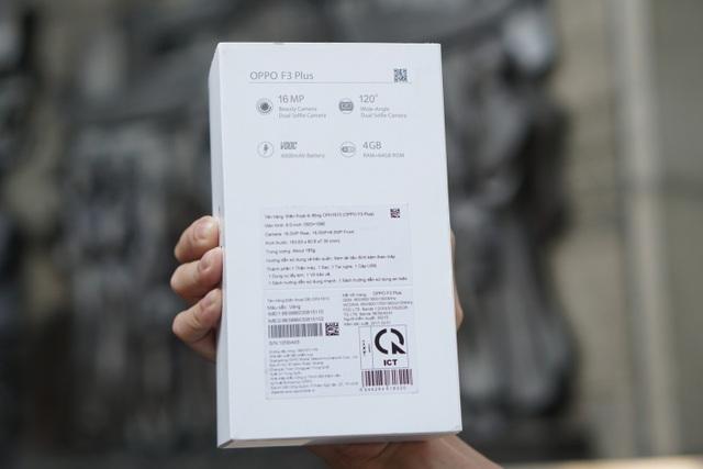 Cận cảnh sản phẩm Oppo F3 Plus giá 10.690.000đ - 4