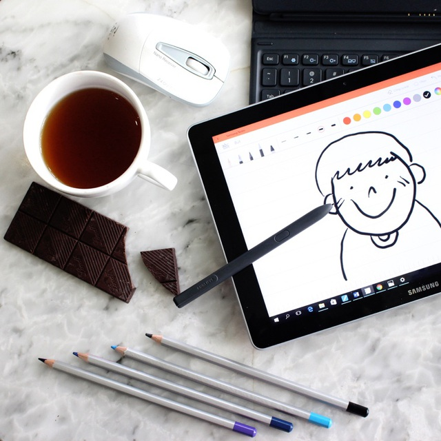 Giờ đây, mọi nét vẽ đậm nhạt của bạn đều được thể hiện dễ dàng nhờ bút S Pen.