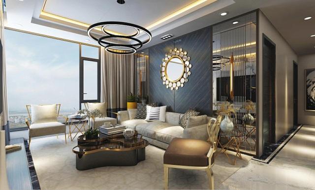 Căn hộ với nội thất dát vàng và tầm nhìn panorama tuyệt vời tại Sunshine City
