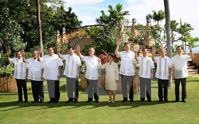 Các trưởng đoàn tham dự Hội nghị cấp cao ASEAN lần thứ 12, ngày 13/1/2007 tại Cebu (Philippines). (Ảnh: Đức Tám/TTXVN)