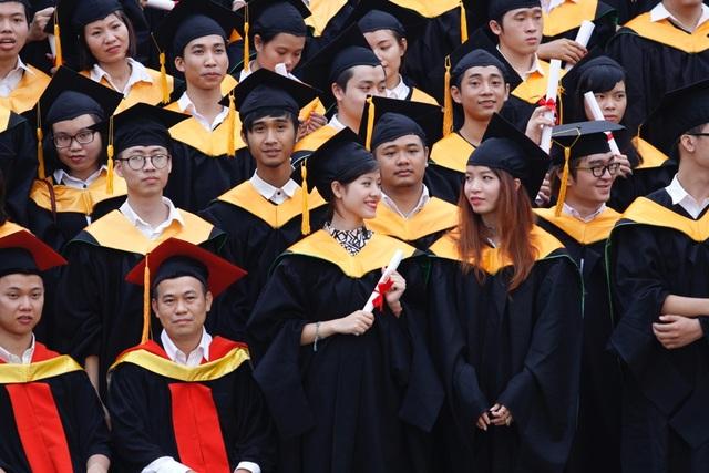 Sinh viên Đại học Greenwich (Việt Nam) trong lễ tốt nghiệp.