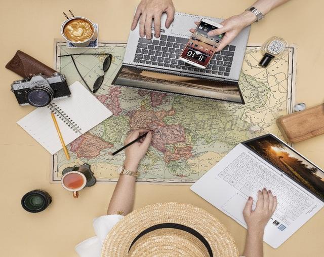 LG Gram đang trở thành chiếc laptop xu hướng xuất hiện ở nhiều không gian làm việc của giới trẻ