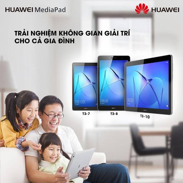 """Dành tặng những người thân yêu những sản phẩm từ """"gia đình"""" MediaPad của Huawei"""