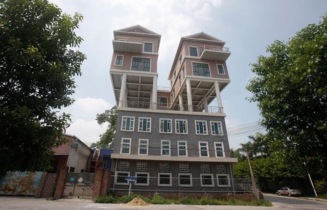 Nhà 3 trong 1 độc đáo ở Đông Quan, Quảng Đông, Trung Quốc.