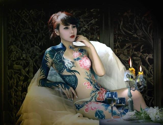 Đã mắt với những bức tranh tuyệt đẹp trên cơ thể thiếu nữ Việt - 6