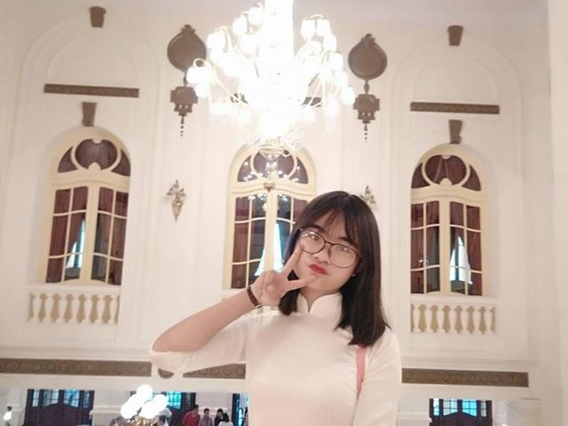 Cô gái xinh xắn ước mơ vào Đại học Y Hà Nội.