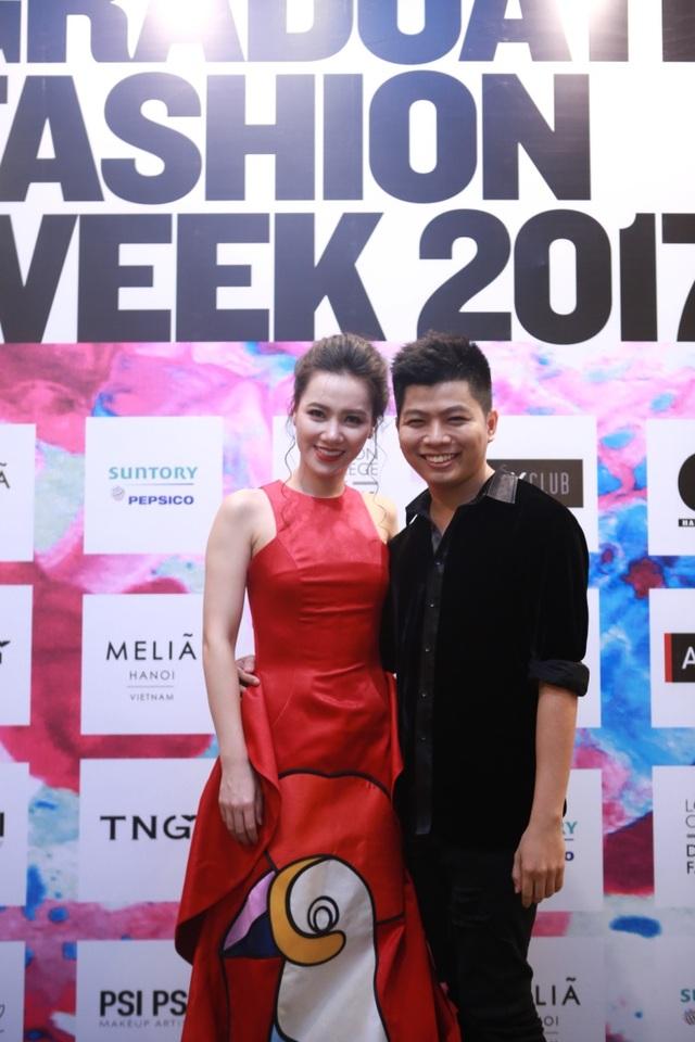 Nguyễn Chí Nghĩa – tác giả của Bộ trang phục cùng MC Minh Hà