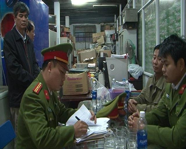 Cơ quan công an khám xét trụ sở Hợp tác xã Thương mại, dịch vụ Thuận Thành.