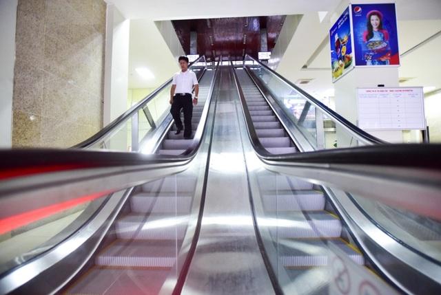 Nhà ga mới trang bị thang máy…