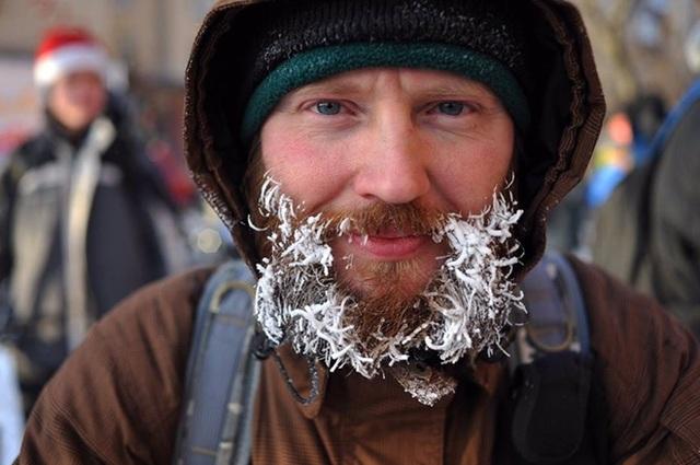 Độc đáo cuộc diễu hành xe đạp dưới trời lạnh âm 28 độ C - 8