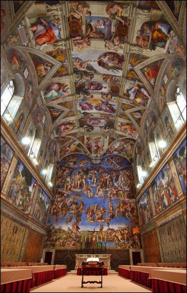 Những hình vẽ của Diana lấy cảm hứng từ nhà nguyện Sistine dù cụ chưa bao giờ đến đây