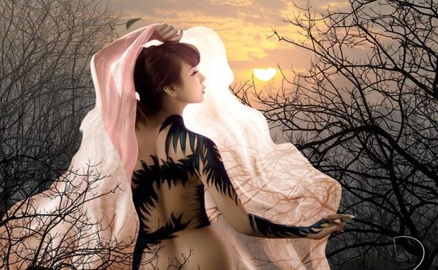 Đã mắt với những bức tranh tuyệt đẹp trên cơ thể thiếu nữ Việt - 9