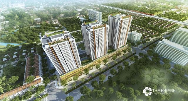 The K – Park bao gồm 3 tòa căn hộ cao lần lượt 23, 25 và 27 tầng, cung cấp ra thị trường 951 căn hộ chất lượng cao