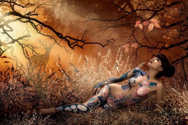Đã mắt với những bức tranh tuyệt đẹp trên cơ thể thiếu nữ Việt - 10