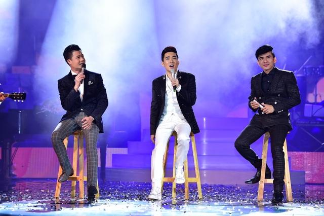 Đan Trường, Quang Dũng, Quang Hà tam ca ở cuối chương trình.