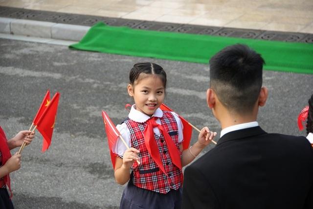 Một em nhỏ sẽ tham gia lễ đón Chủ tịch Trung Quốc tại Phủ Chủ tịch