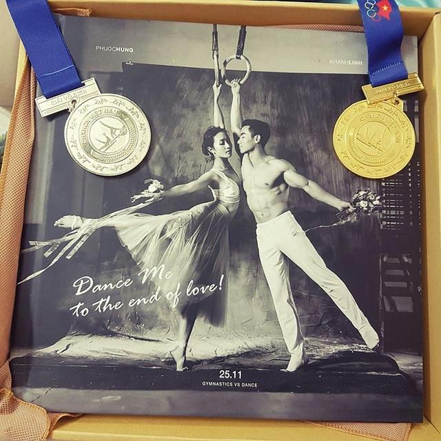 Trước ngày cưới, Phước Hưng vẫn thi đấu tại giải Vô địch thể dục dụng cụ quốc gia và giành thành tích cao.