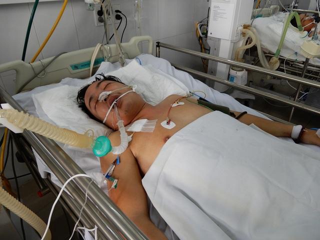 Trần Minh Phương đang điều trị tại Bệnh viện Đà Nẵng