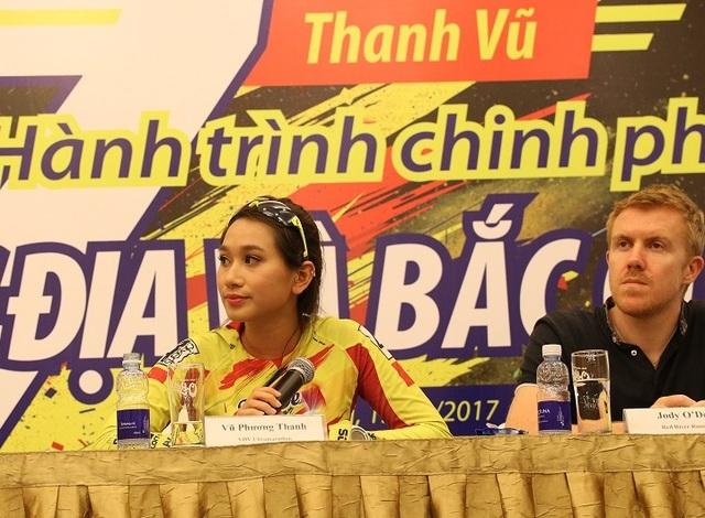 Phương Thanh trong buổi chia sẻ truyền cảm hứng tại Hà Nội ngày 15/3 vừa qua.