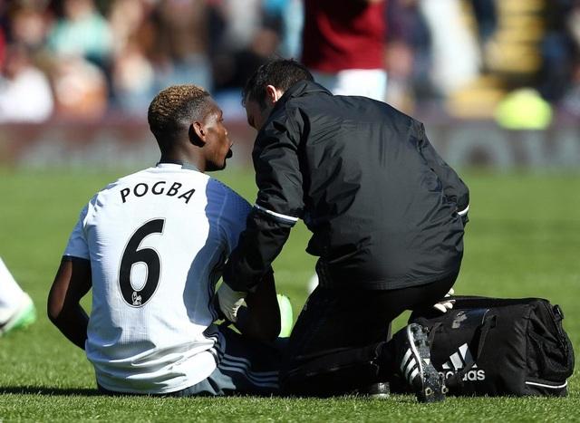 Pogba không thể hồi phục chấn thương để tham dự trận đấu với Man City