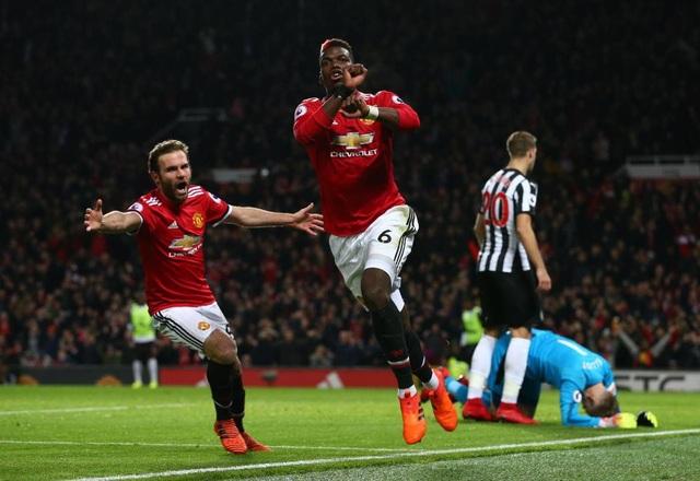 Pogba đã thi đấu tuyệt hay trước Newcastle