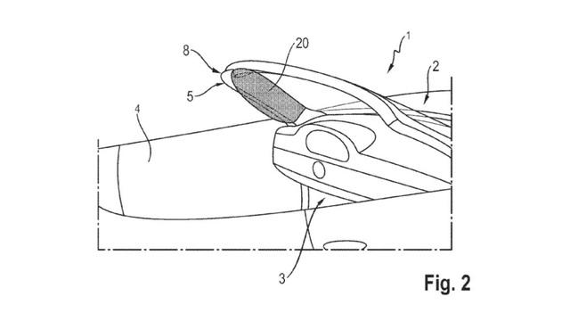 Porsche nhận bằng sáng chế cho túi khí cột A - 3
