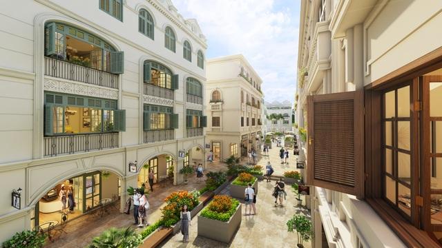 Dự án được thiết kế khéo léo tạo ra những con phố đi bộ và mua sắm sầm uất, thiết kế có khả năng thông căn hợp lý nhằm tạo ra những không gian kinh doanh linh hoạt, đáp ứng nhu cầu của rất nhiều khách hàng.