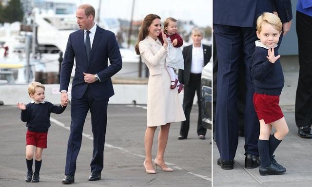 Hoàng tử George cùng bố mẹ và em gái trong chuyến thăm Canada năm 2016 (Ảnh: Hello)