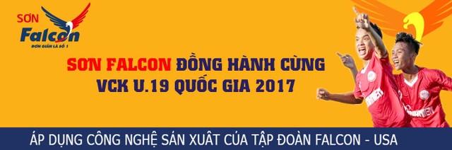 Sơn Falcon đang đồng hành cùng giải U19 quốc gia diễn ra tại Quy Nhơn (Bình Định)