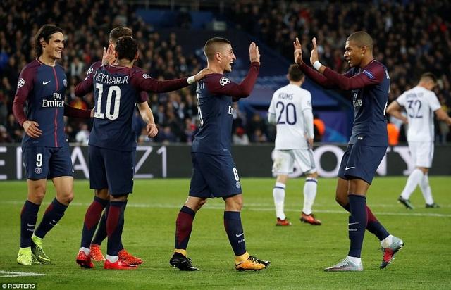 PSG đại thắng 5-0 trước Anderlecht