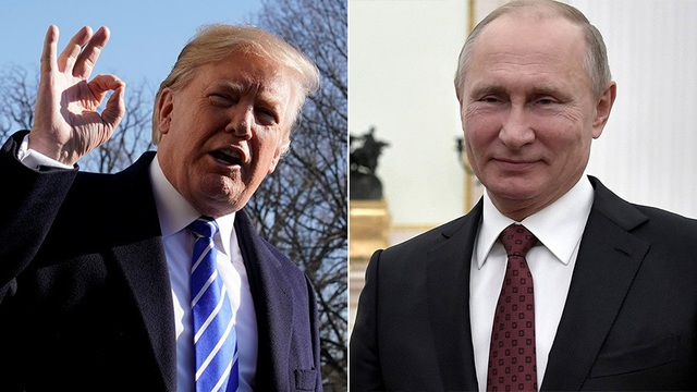 Tổng thống Nga Vladimir Putin (phải) và Tổng thống Mỹ Donald Trump (Ảnh: Reuters)