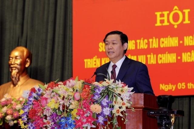 Phó Thủ tướng Vương Đình Huệ phát biểu chỉ đạo tại hội nghị (ảnh: MOF)