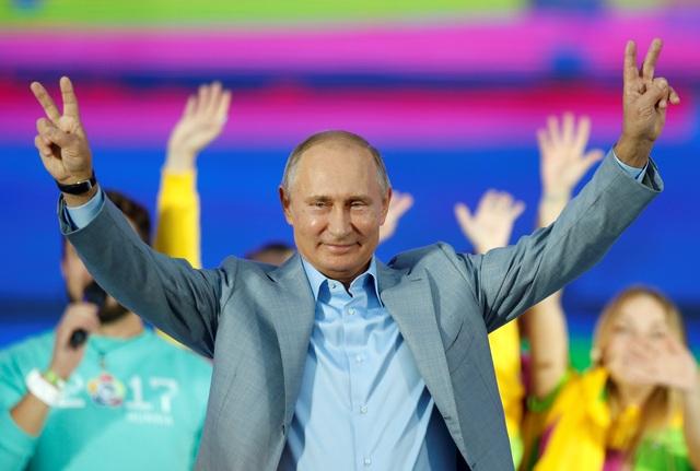 Tổng thống Putin phát biểu tại Liên hoan Thanh viên và Sinh viên toàn cầu ngày 21/10 (Ảnh: Reuters)