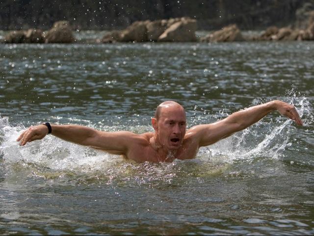 Mỗi ngày, ông Putin dành khoảng 2 giờ để bơi (Ảnh: AP)