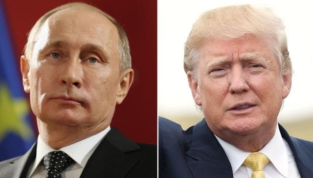 Tổng thống Nga Vladimir Putin (trái) và Tổng thống đắc cử Mỹ Donald Trump (Ảnh: Getty)