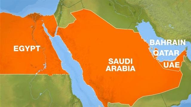 Một loạt quốc gia đã tuyên bố cắt quan hệ với Qatar, trong đó có Ai Cập, Ả-rập Xê-út, Các Tiểu tương quốc Ả-rập thống nhất (UAE) (Ảnh: Al Jazeera)