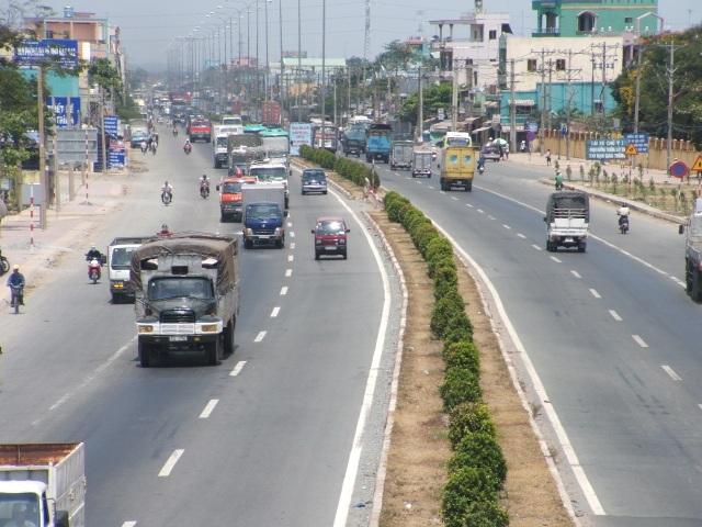 Đường quốc lộ 1A đoạn qua Thường Tín